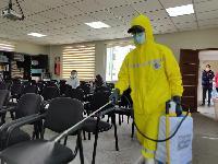 Desinfección de las instalaciones de AJAM nacional